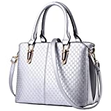 Cozy Age Womens Handbags Top-handle Bag PU Totes Bag £¬One Size,Silver
