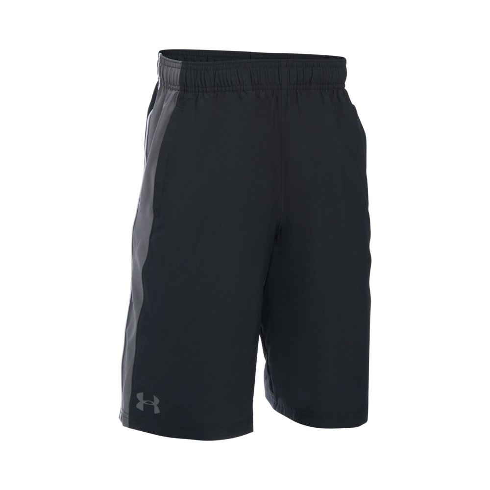 Under Armour Boys' Impulse Woven Shorts, Black (001)/Graphite, Youth Small by Under Armour