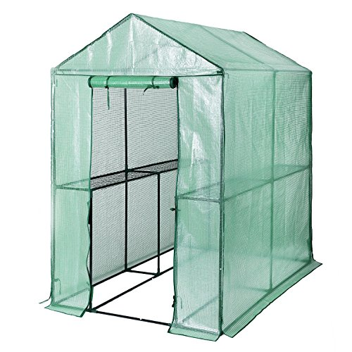 Songmics Foliengewächshaus mit 130 g/m² PE 120 x 186 x 190 cm...