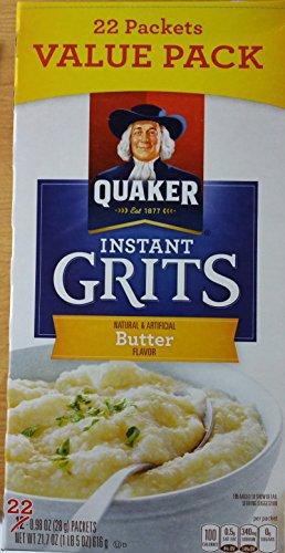 Quaker Instant Grits Butter Flavor, 22 Count