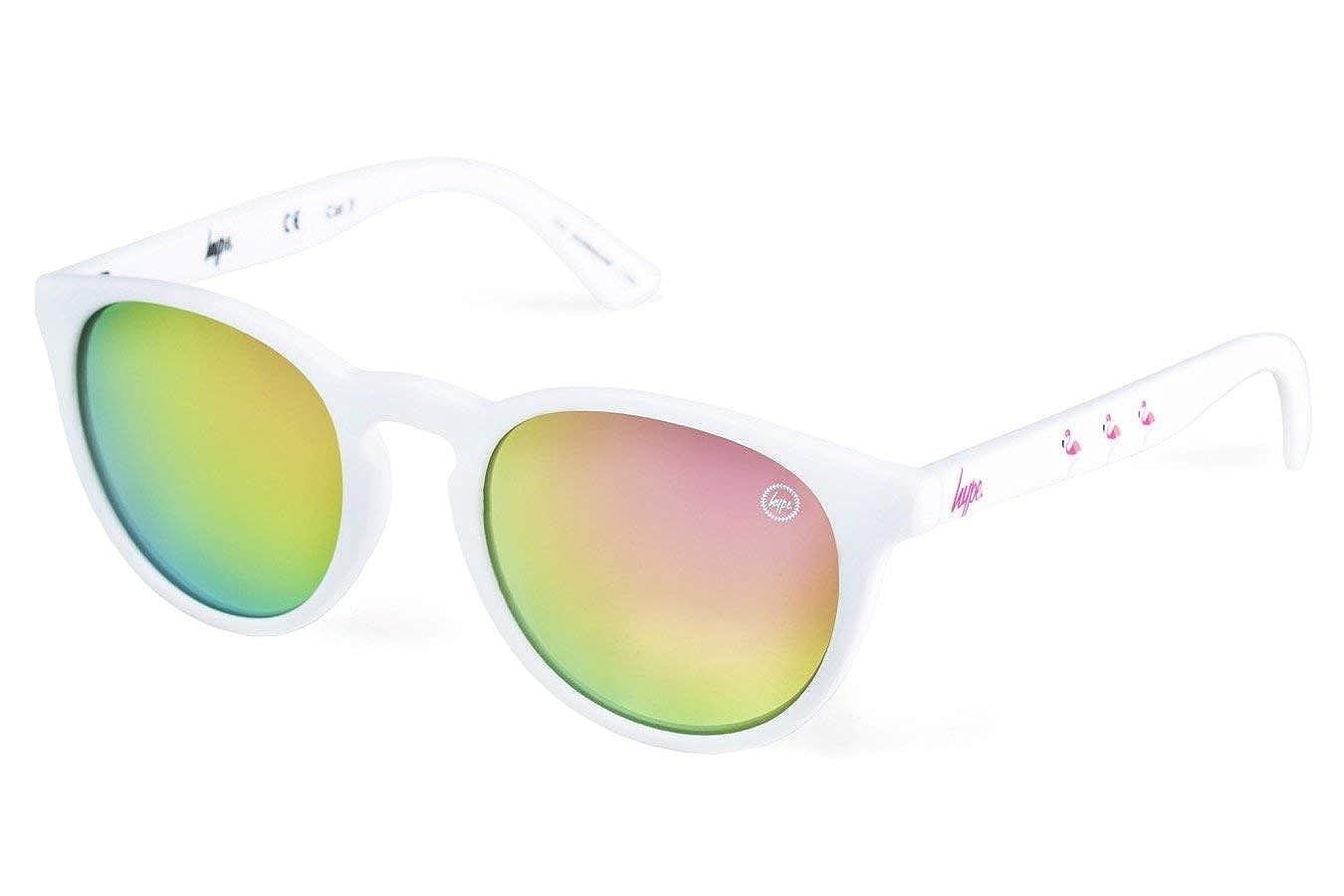 HYPE Gafas De Sol Blancas Tropical Hyperound: Amazon.es ...