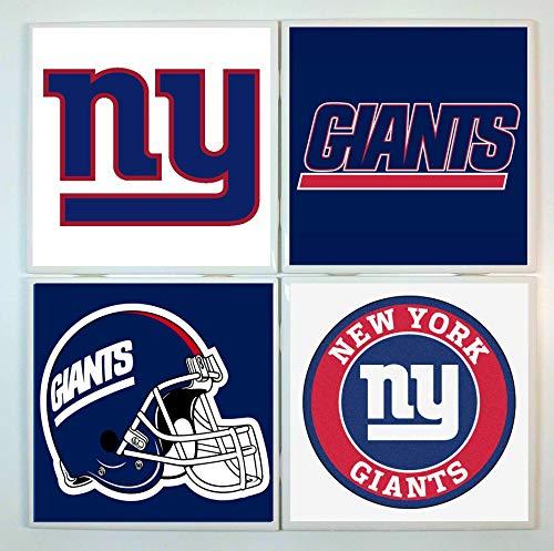 New York Giants Coasters - set of 4 tile coasters - football
