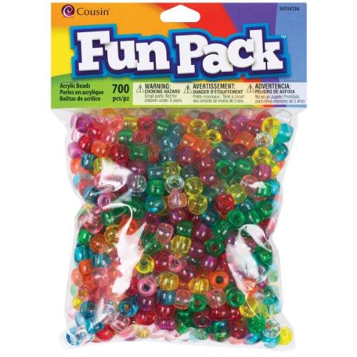(Cousin 34734136 Fun Packs 700-Piece Trans Rainbow Pony Beads)