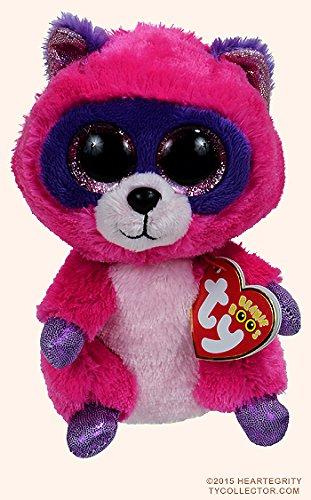Ty Beanie Boos Roxie The Pink/Purple Raccoon Plush 6 (Purple Raccoon)