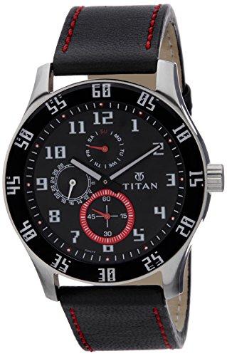 Titan Octane Analog Black Dial Men's Watch  NM1632SL03 / NL1632SL03