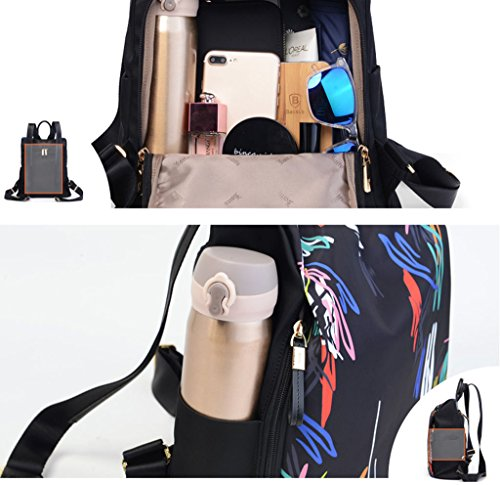Backpac Filles Couleur Backpack Casual Impression Femmes A B Adolescente Mode xYqP1O