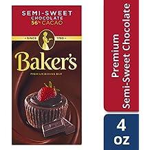 Baker's Semi-Sweet Baking Chocolate Squares, 4 oz