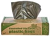 Stout by Envision G3036B80 Eco-Degradable Plastic Trash Bag, 20-30gal, .8mil, 30 x 36, Brown (Box of 60)