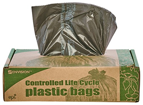 Stout by Envision G3036B80 Eco-Degradable Plastic Trash Bag, 20-30gal.8mil, 30 x 36, Brown (Box of (60 Eco Liner)