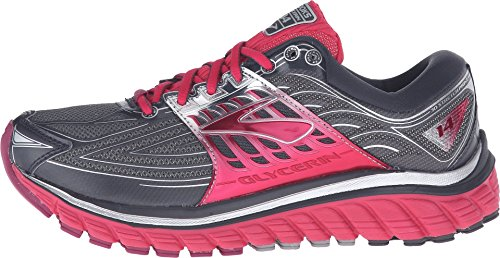 Image of Brooks Women's Glycerin 14 Anthracite/Azalea/Silver Sneaker 6 B (M)
