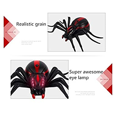 Giveme5 Realistic Fake Spider Scary Toy Remote Control RC Prank Christmas Holiday Gift Model: Toys & Games