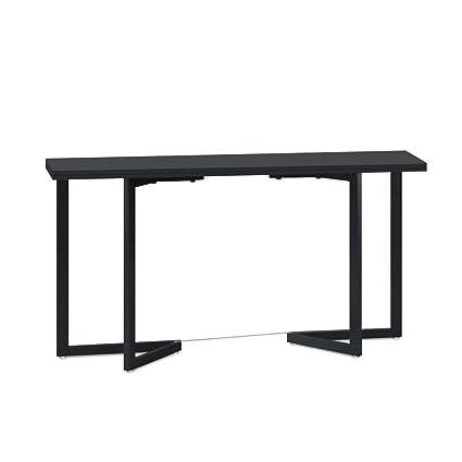 Menzzo KS1744 - Mesa plegable (madera y metal, 80 x 40 x 74 ...