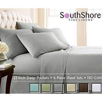 Southshore Fine Linens (™) Aspen Springs® 4 Piece   Extra Deep Pocket Sheet
