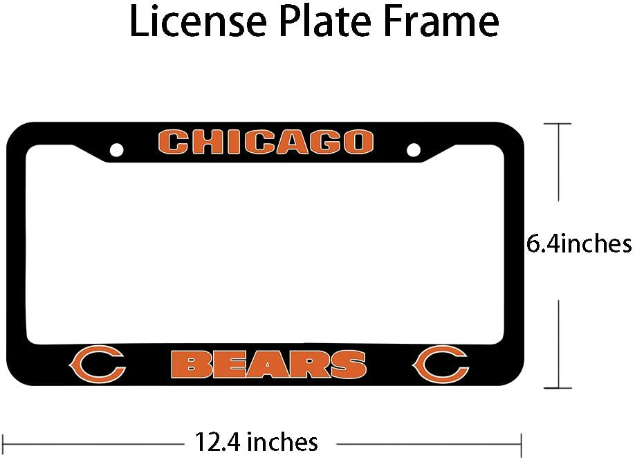 Matte Black Aluminum Alloy License Plate Frame Matching with Screw Cover Set Onlylove 2PCS fit San Francisco 49ers License Plate Frames fit 49ers