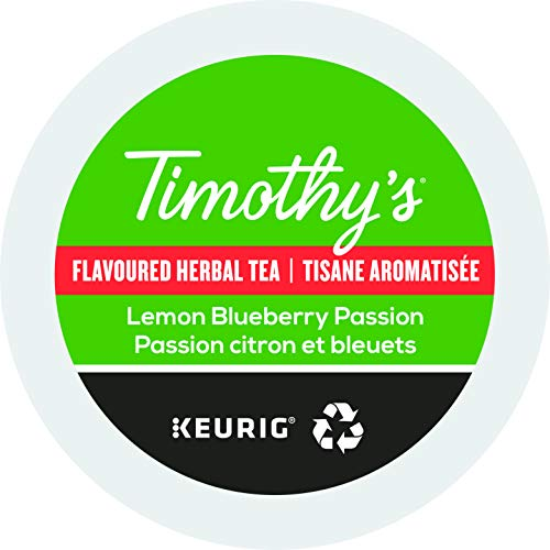 Timothy's World Tea, Lemon Blueberry Passion Tea, K-Cup Portion Pack for Keurig K-Cup Brewers, 24-Count (Pack of 2) ()