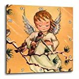 Cheap 3dRose dpp_35896_1 Angel Feeding Birds-Wall Clock, 10 by 10-Inch