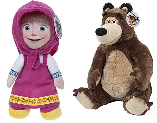 MASHA AND THE BEAR - Set of 2 Plush toys
