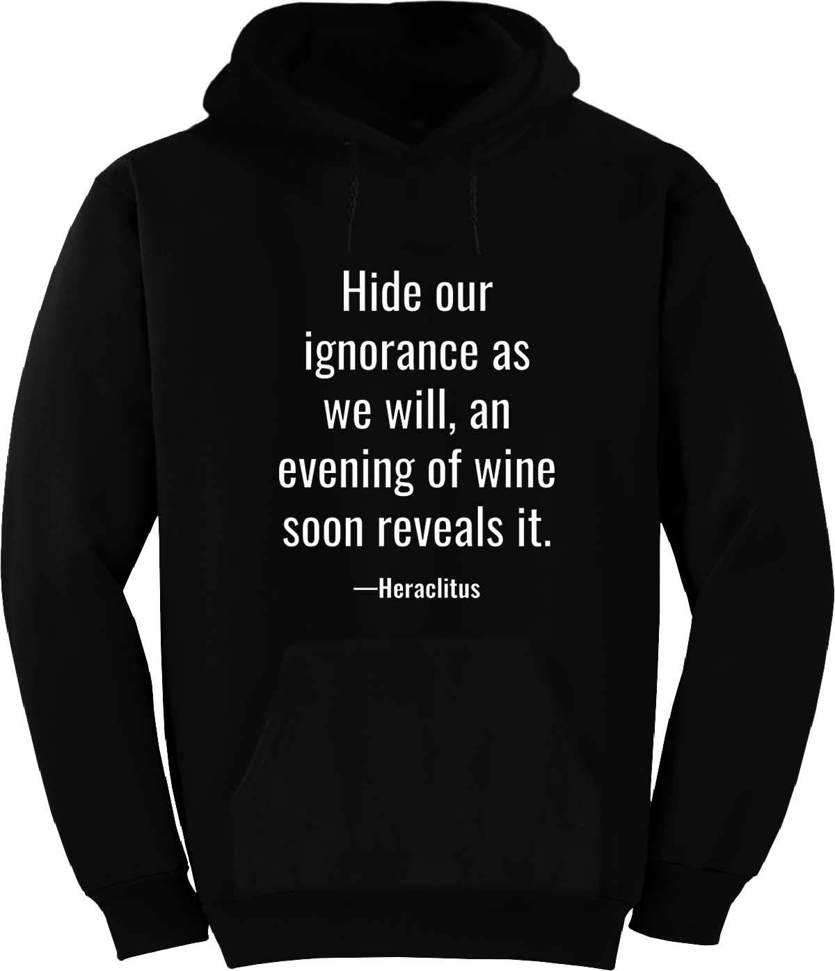 Hide Our Ignorance as we Will, an Evening Hoodie Black