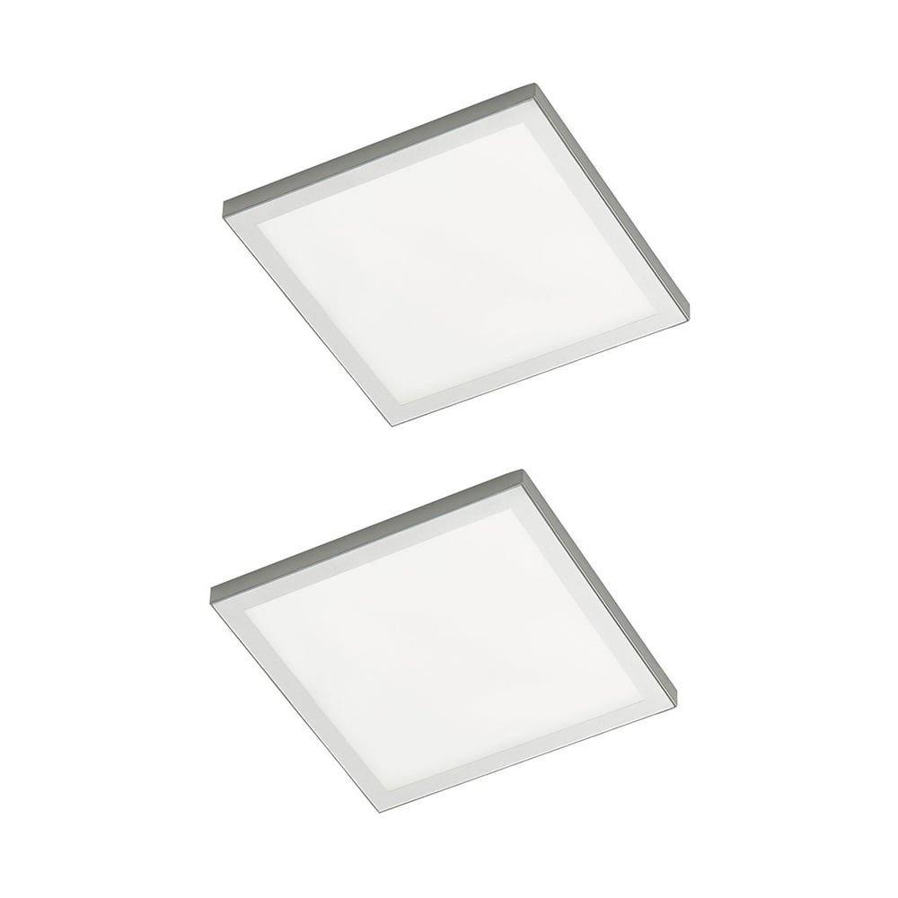 Sensio Alti Square Prismatic Under Cabinet Light - 2 Light Kit Warm White SE21006W2