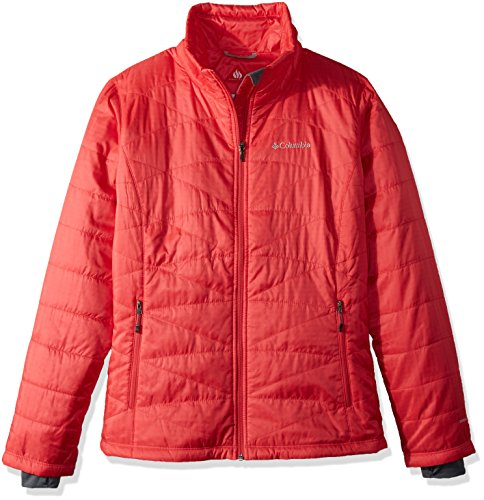 Columbia Women's Mighty Lite iii Jacket, Red Camellia, (Lite Insulated Jacket)