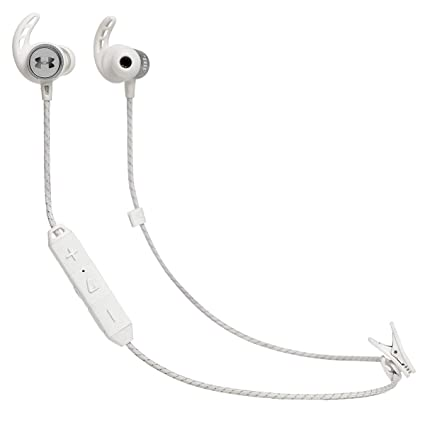6ab19043407 Amazon.com: Under Armour JBL Sport Wireless React, White/Silver ...