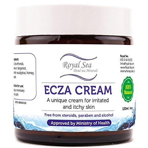 Tratamiento de Eczema Natural Royal Dead Sea Anti Itch Cream [4oz] Dermatitis atópica, queratosis Pilaris, piel hongo luz terapia alivio para la cara, sonidos ojos, mano y piel seca. Conveniente para los adultos y los niños del bebé