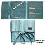 della Q Combo Sock Knitting Case for Double Point & Circular Knitting Needles; 017 Seafoam Stripes 135-2-017