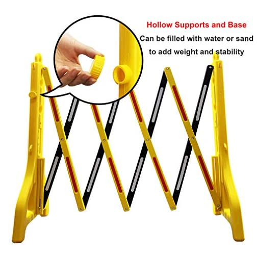 Reliancer Expandable Mobile Barricade Portable Water Filled Expanding Safety Barrier Gate Outdoor Plastic Retractable… |