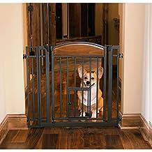 Carlson Pet Products 3030 Design Studio Wood Metal Walk Through Pet Gate