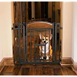 Carlson Pet Products 3030 Design Studio Wood Metal Walk Through Pet Gate