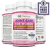 OZ Formulas Joint Care for Women with Organic Turmeric, All Natural, 95% Curcuminoids, Pain & Arthritic Relief, Anti-Aging, Anti-Inflammatory (60 capsules)