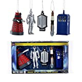 Bundle Pack of 12, Kurt Adler Doctor Who 2D Printed Ornaments Box 5 Pieces
