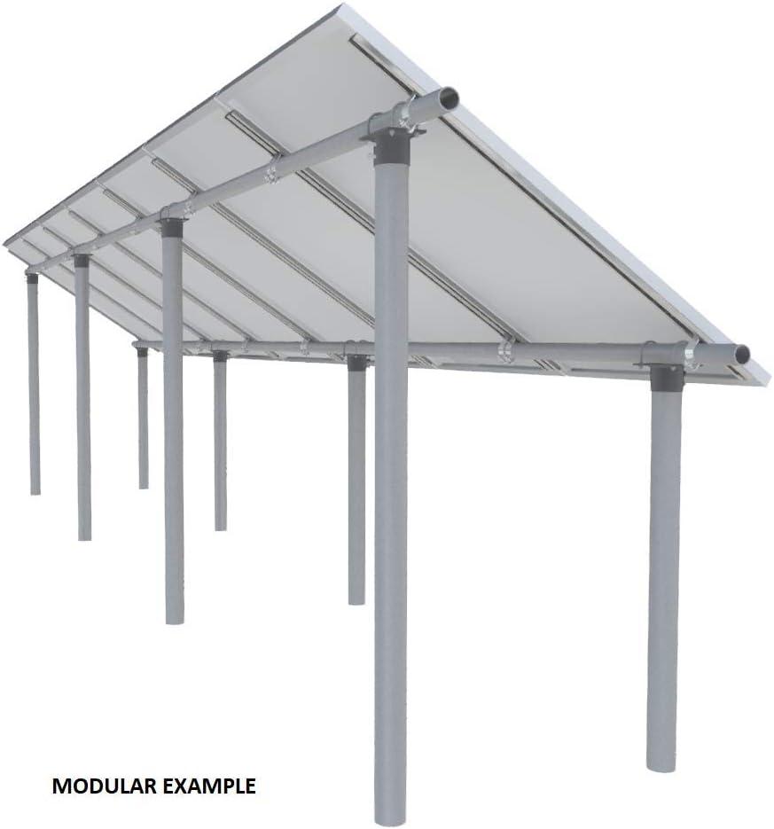 Sistema de soporte de panel solar modular EZArray de vanguardia de potencia de corte, cualquier tamaño de panel, cualquier cantidad, montaje en tubo de suelo/poste: Amazon.es: Jardín