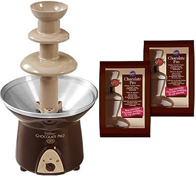 Wilton Chocolate Pro 3-Tier Chocolate Fountain 2-Pack Chocolate Fondue Melting Wafers, 4 lb