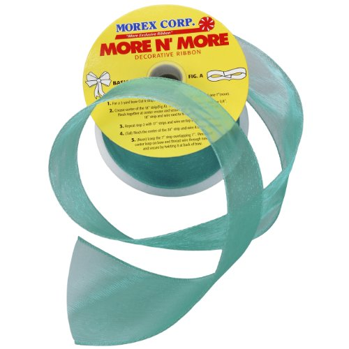 Morex Ribbon Wired 2-1/2-Inch Chiffon Ribbon with 20-Yard Spool, - Morex Lace Ribbon