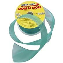 Morex Ribbon Wired 2-1/2-Inch Chiffon Ribbon with 20-Yard Spool, Aqua