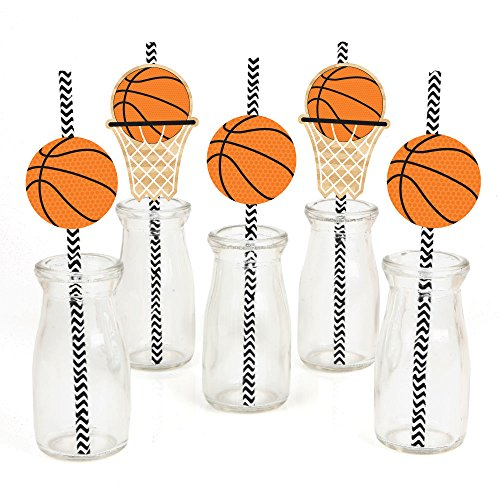 Nothin' But Net - Basketball Paper Straw Decor