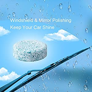 Car Windshield Clean Washer Tablets,EFORCAR 12 Pcs Auto Windscreen Cleaner Car Side Rear Window Cleaning Solid Wiper Cleaning Tool