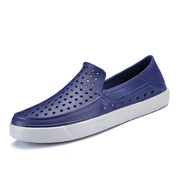 WWricotta Hombre Zapatillas para Andar Playa Heuco Casual Calzado de Planos Transpirables Zapatos Informales Bambas Zapatos para Perezoso Náuticos ...