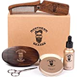 Beard Kit | Beard Oil and Beard Balm | Beard Grooming & Trimming Kit Beard Brush Beard Comb and Scissors included by Northern Beards