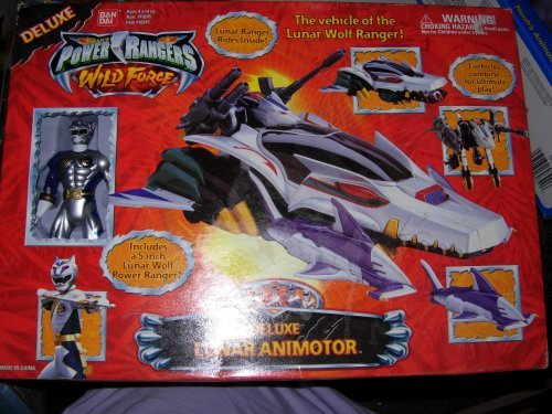 Power Rangers Wild Force Deluxe Lunar Animotor with Lunar Wolf Ranger MISB MIB RARE (Power Rangers Wild Force Lunar Wolf Ranger)
