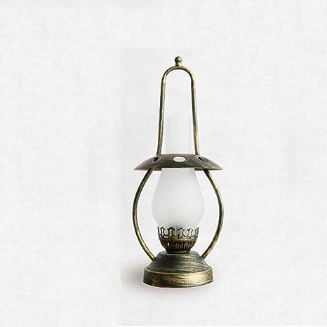 Yksm Antigua lámpara de Mesa lámpara de Aceite nostálgico ...