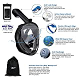 180° Snorkel Mask View for Adults and Youth. Full
