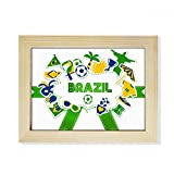 DIYthinker Soccer Football Brazil Cultural Desktop Wooden Photo Frame Picture Art Painting 6x8 inch