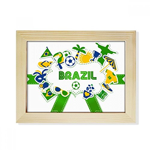 DIYthinker Soccer Football Brazil Cultural Desktop Wooden Photo Frame Picture Art Painting 6x8 inch by DIYthinker