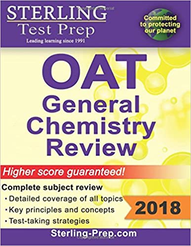 Book Sterling Test Prep OAT General Chemistry Review: Complete Subject Review