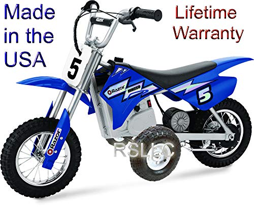 Rigid Motorcycle Training Wheels for Razor MX350 and MX400 ONLY (Best Dirt Bike Wheels)
