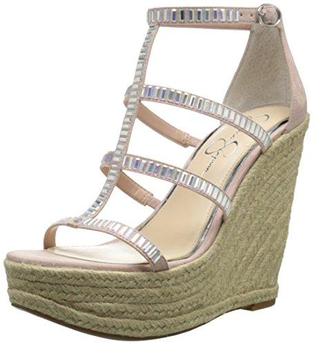 Jessica Simpson de la mujer adelinn Alpargata cuña sandalias Nude Blush