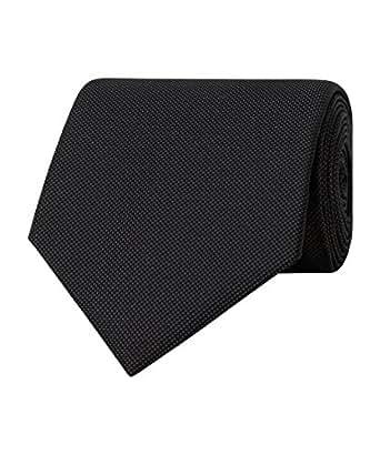 Van Heusen Men's Classic Tie, Black, One size