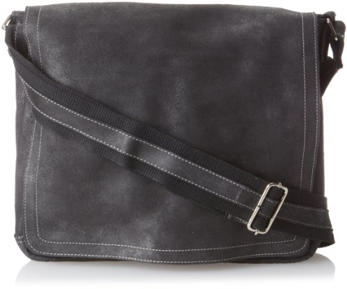 David King & Co. North South Laptop Messenger, Black, One Size by David King & Co